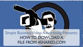 How to download a file link from 4shared.com