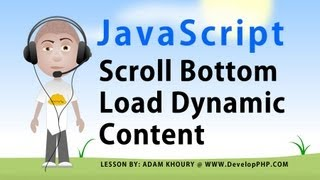 Javascript Scroll Tutorial Load Dynamic Content Into Page When User Reaches Bottom Ajax