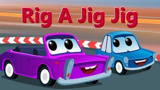 Zeek And Friends | Rig a Jig Jig | Car Nursery Rhymes And Songs