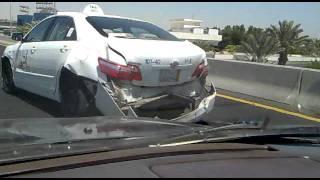 حادث غريب 10 سيارات