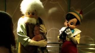 Tamara meeting Pinocchio & Geppetto