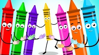 If You Are Happy And You Know It | Crayons Nursery Rhymes | Kids Songs