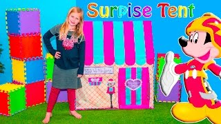 Assistant Surprise Tent with Paw Patrol and Disney Mickey Pokemon + Blaze and Roadster Racers Toys V