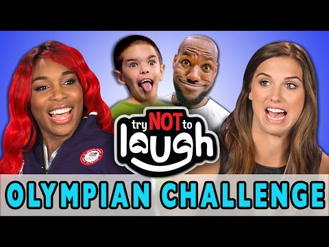 Try to Watch This Without Laughing or Grinning ft. Olympians