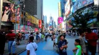 Walk down the Times Square in New York