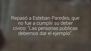 Daniella Chávez recibió regalos y declaraciones de amor siendo vocal de mesa