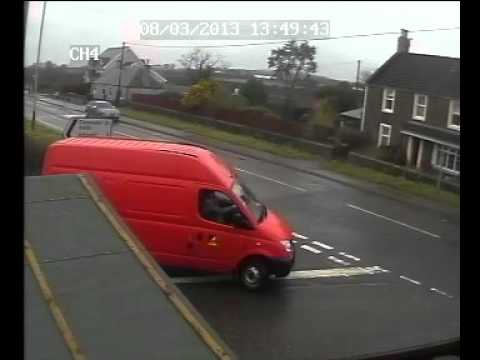 Red Van Skid Crossroads