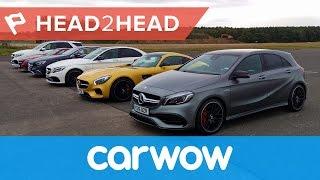 Ultimate Mercedes-AMG Drag Race: six cars... 2983hp... one winner! | Head2Head