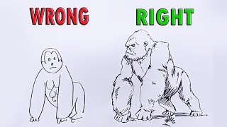 How to draw KING KONG easily and correctly