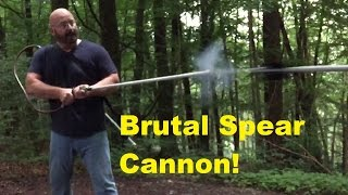 How To Weaponize Garden Hose Stuff (Homemade Spear Launcher)
