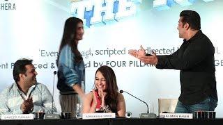 Salman Khan Makes FUN Of Katrina Kaif For Coming late At The Dabangg Tour Event