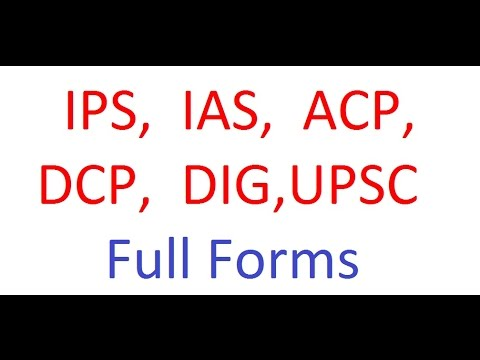 Xxx Mp4 IPS IAS ACP DCP DIG And UPSC Full Forms 3gp Sex