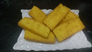 Cake rusk or cake toast  without oven& without beater