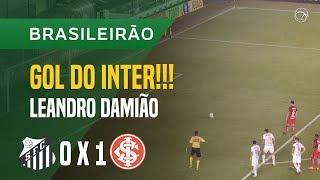 GOL (LEANDRO DAMIÃO) - SANTOS X INTERNACIONAL - 10/06 - BRASILEIRÃO 2018