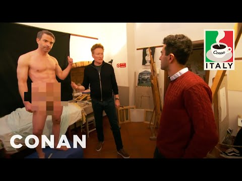 Xxx Mp4 Jordan Schlansky Poses As A Nude Model CONAN On TBS 3gp Sex