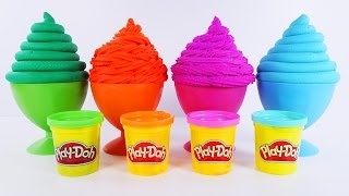 Learning Colors for Children with Play Doh Ice Cream Surprises - Learn Colours Lesson
