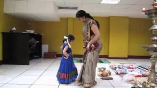 Aghosha's first dance class with Asha Sarath