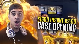$1600 CS:GO CASE OPENING - Unboxings/Tradeups & more!