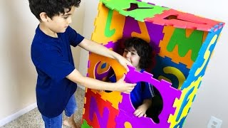 Make BIG ABC squishy foam PUZZLE box. Numbers 0 to 9. Let