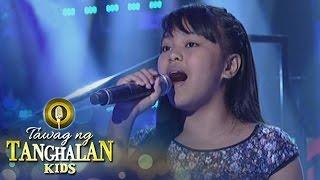 Tawag ng Tanghalan Kids: Nicole Anne Galendez | Hawak Kamay