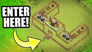 """INCREDIBLE NEW TROLL BASE!! 💥 """"THE CASTLE OF DOOM!"""" 💥 Clash Of Clans"""