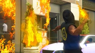 GTA 5 Online - TRAPPING PEOPLE ONLINE IN BURNING BUILDINGS! (GTA V Online)