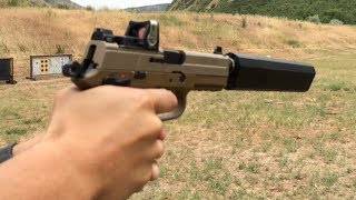 fn fnp 45 tactical silencerco osprey suppressor trijicon rmr wet vs dry suppressor test