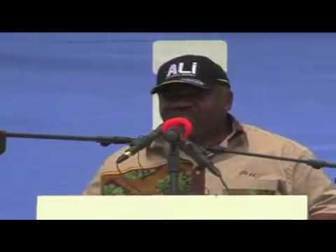 Le Candidat Ali Bongo Ondimba à Mayumba   Dimanche 21 aout