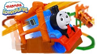 TRAINS FOR CHILDREN: Thomas and Friends Adventures Misty Island Zip Line Review Playset for Kids