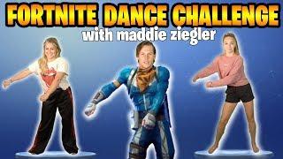 FORTNITE DANCE CHALLENGE: DANCE MOMS vs OLYMPIAN featuring MADDIE ZIEGLER + SHAWN JOHNSON