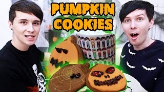 Halloween Baking - PUMPKIN SPICE PUMPKIN COOKIES