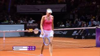 Maria Sharapova (RUS) vs. Angelique Kerber (GER) 23 April 2015 - Porsche Tennis Grand Prix 2015