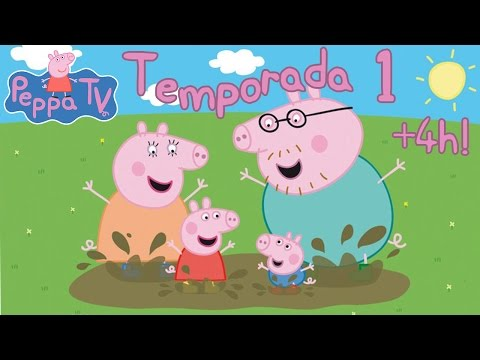 4 HORAS Peppa Pig Temporada 1 Completa 52 Episodios en Español Castellano