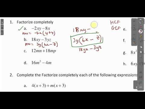 Xxx Mp4 CXC CSEC Maths How To Factorize Expressions Lesson 1 ACT Math SAT Math 3gp Sex