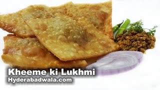 Lukhmi Recipe Video – Learn How to Make Hyderabadi Kheema Lukhmi at Home – Easy and Fast cooking