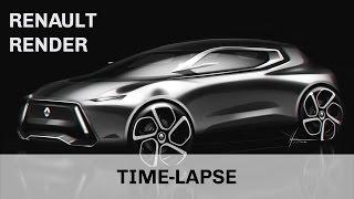 Renault Car Design Render | SketchBook Pro