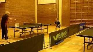 Luke from Immingham Training at Market Rasen's Table Tennis Club