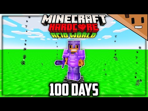 I Survived 100 Days in an ACID Only World in Hardcore Minecraft Here s What Happened