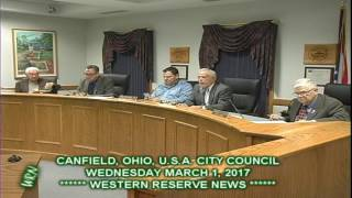 Canfield Council Comments Regular Meeting March 1, 2017