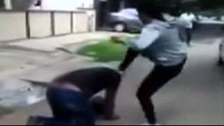 Caught on camera: Woman kicks man who harassed her