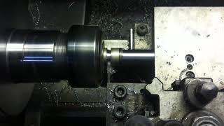 Lathe parting tool with wood circular carbide saw