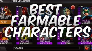 BEST CHARACTERS TO FARM 2018! - DC Legends: Battle for Justice