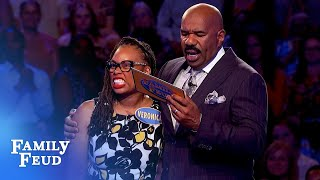 Fast Money frenzy! The Burnleys go for another $20,000! | Family Feud