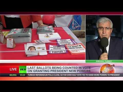 Erdogan 2029 Yes' vote winning in Turkey s referendum to expand president's powers