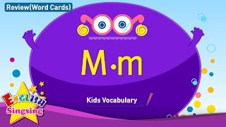 Kids vocabulary compilation - Words starting with M, m - Word cards - review