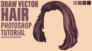 Draw Vector Hair Photoshop Tutorial