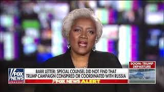 Donna Brazile ready to accept Mueller report findings, calls on Trump to prevent future Russian inte