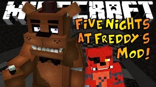 Minecraft   FIVE NIGHTS AT FREDDY'S MOD! - Golden Freddy Boss & OP Foxy   Mod Showcase