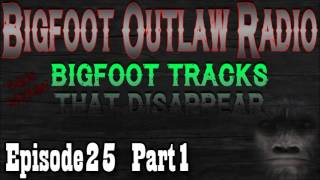 Bigfoot Outlaw Radio Ep25 Bigfoot Tracks That Disappear