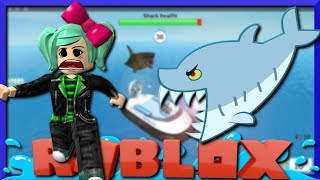 JAWS is after us! Roblox Shark Bite with GoldenNinja50, SallyGreenGamer, Geegee92 Family friendly